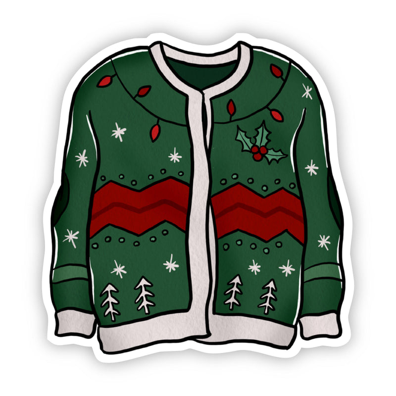 Green Sweater With Lights Sticker