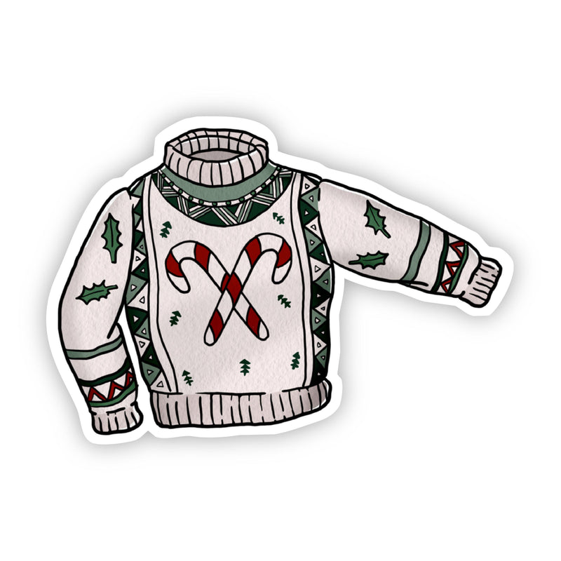 Candy Cane Sweater Sticker