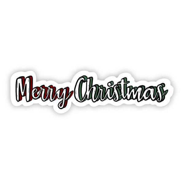 Merry Christmas Lettering Sticker