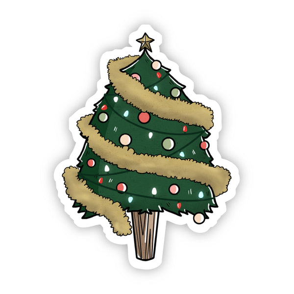 Christmas Tree with Lights and Decorations Sticker