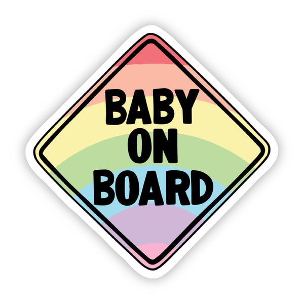 Baby on Board Rainbow Sticker