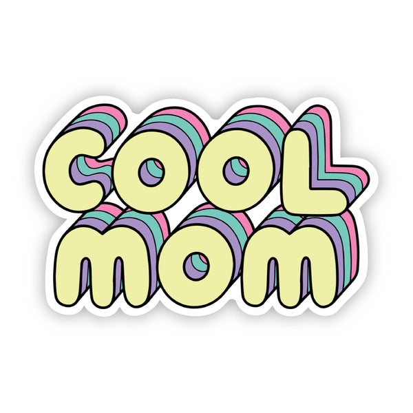 """Cool Mom"" Lettering Sticker"