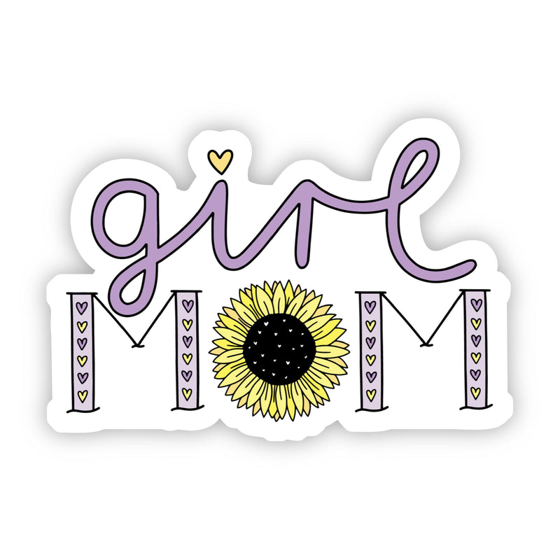 Girl Mom Sunflower Sticker