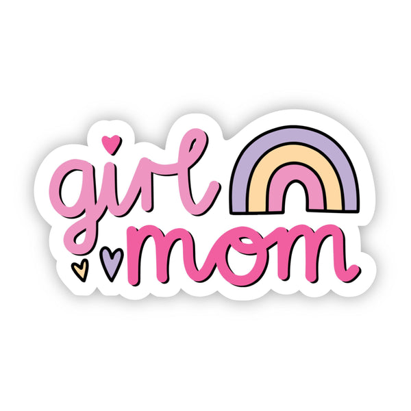 Girl Mom Rainbow Sticker