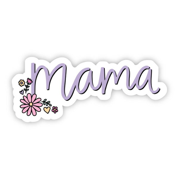 Mama Purple Floral Sticker