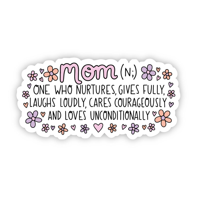 Mom Definition Floral Sticker