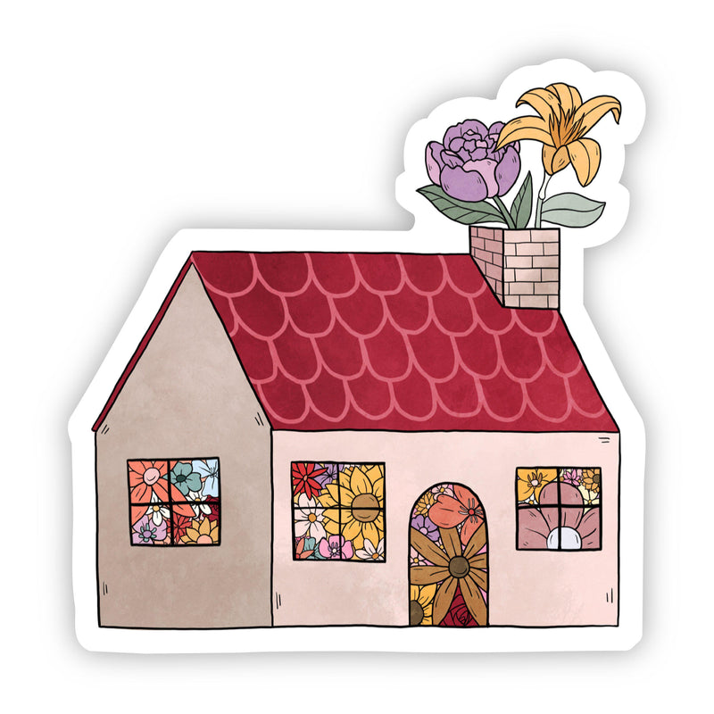 House Floral Sticker