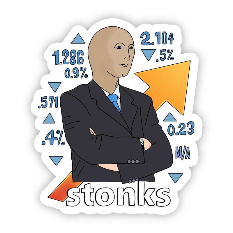 Stonks meme sticker