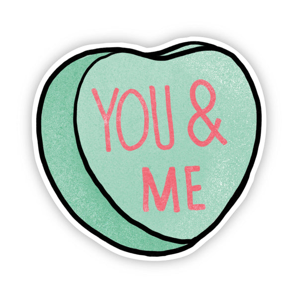 You & Me Heart Sticker