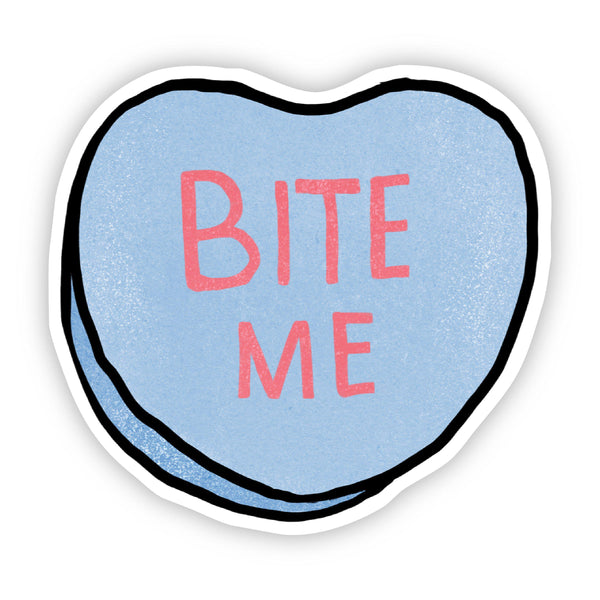Bite Me Heart Sticker