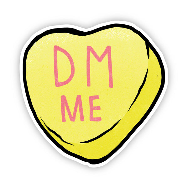 DM Me Heart Sticker