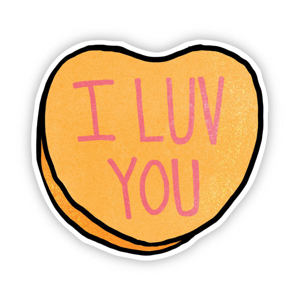 I Luv You Heart Sticker