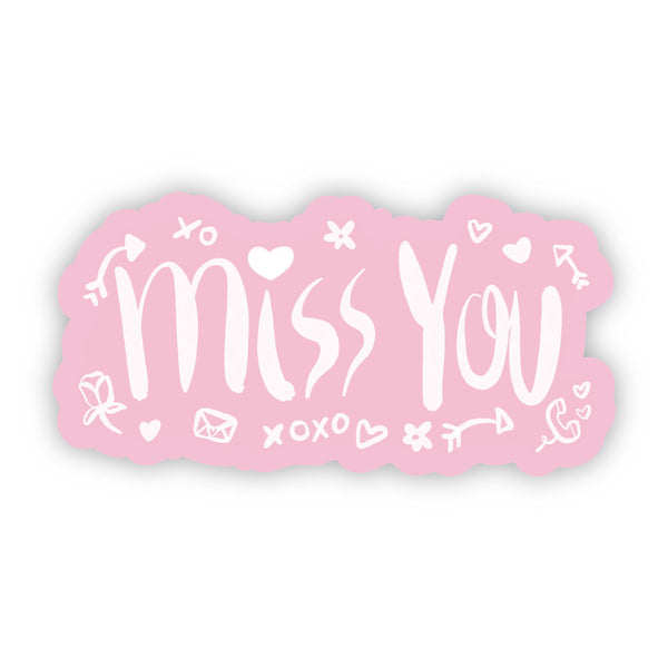 Miss You Pink Love Sticker