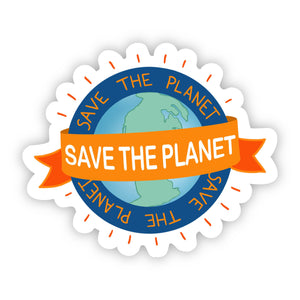 Save the Planet Banner Sticker