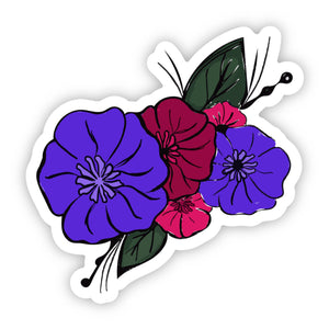 Multicolor Spring Flowers Sticker