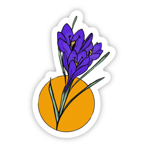 Purple Iris Flower Sticker