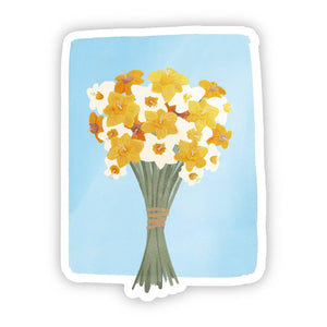 Multicolor Daffodil's Sticker