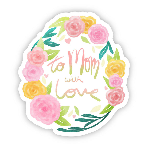 To Mom With Love Roses Sticker 1