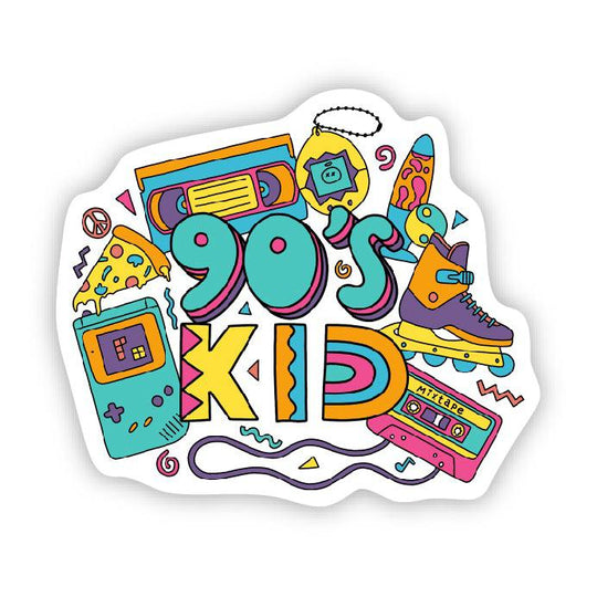 90s kid sticker