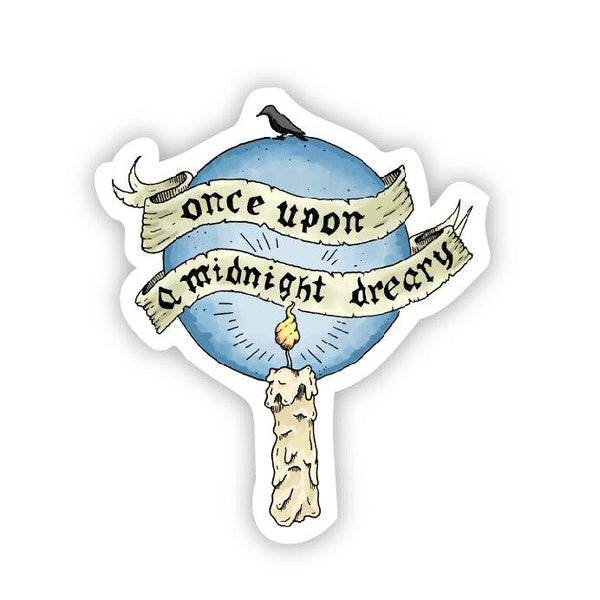 Once upon a midnight dreary sticker
