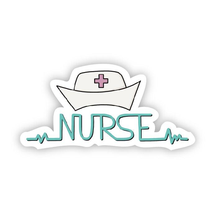 Nurse and retro cap sticker