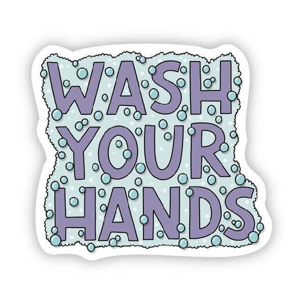 Wash your hands pandemic sticker
