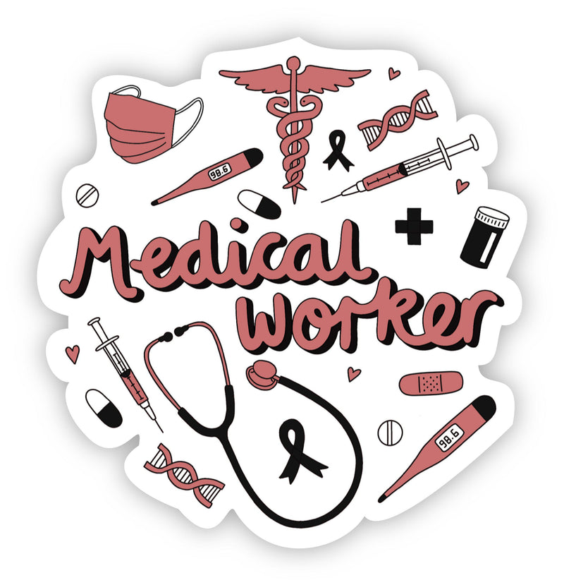 Medical worker sticker