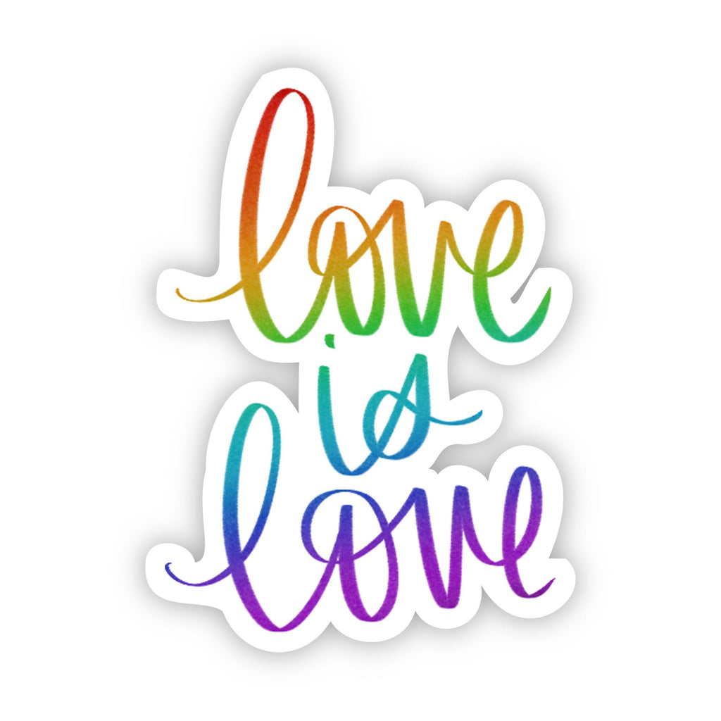 Love is Love Caligraphy Sticker