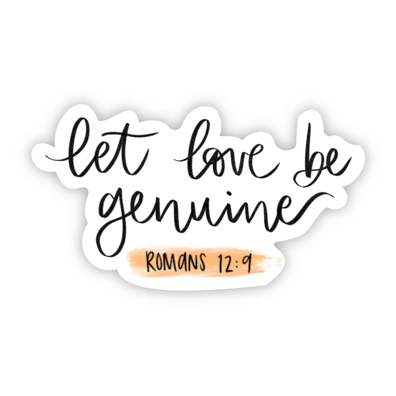 let love be genuine