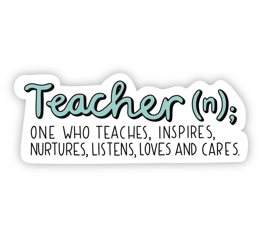 Teacher definition sticker