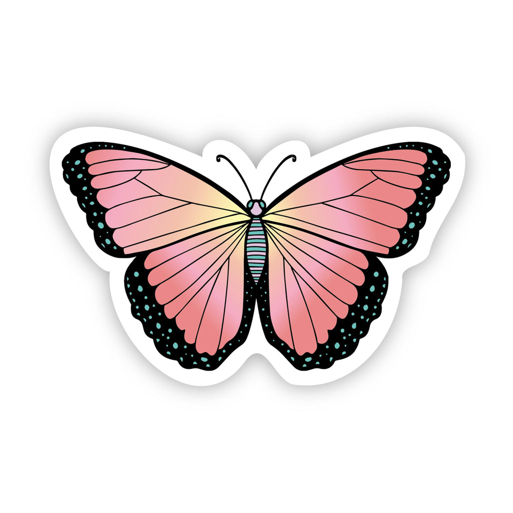 Butterfly Multi Color Aesthetic Sticker