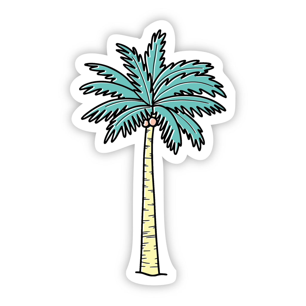 Palm Tree Multi Color Aesthetic Sticker