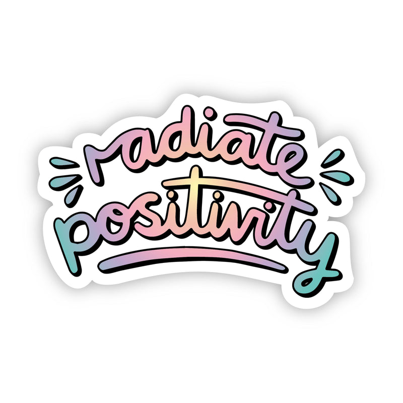 Radiate Positivity Multi Color Aesthetic Sticker