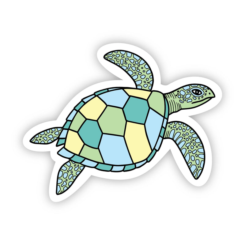 Sea Turtle Multi Color Aesthetic Sticker