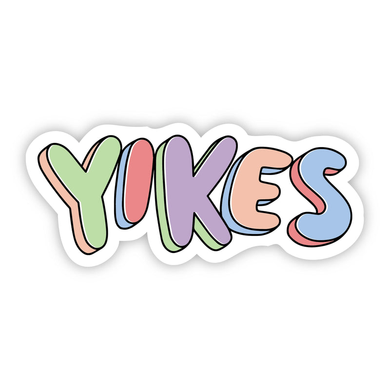 Yikes Multi Color Aesthetic Sticker