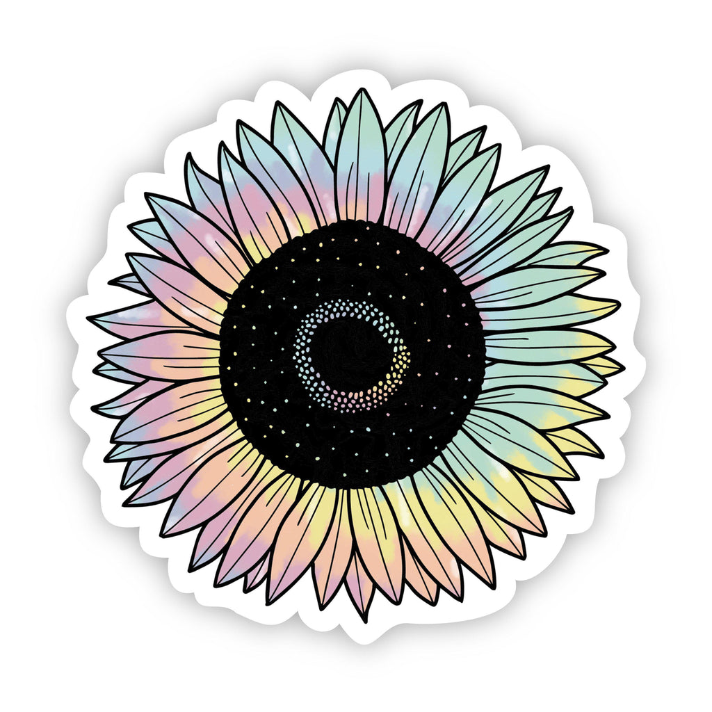 Sunflower Tie Dye Aesthetic Sticker