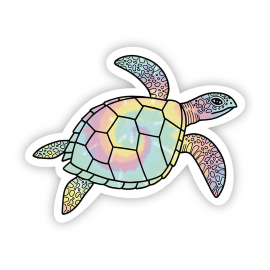 Sea Turtle Tie Dye Aesthetic Sticker