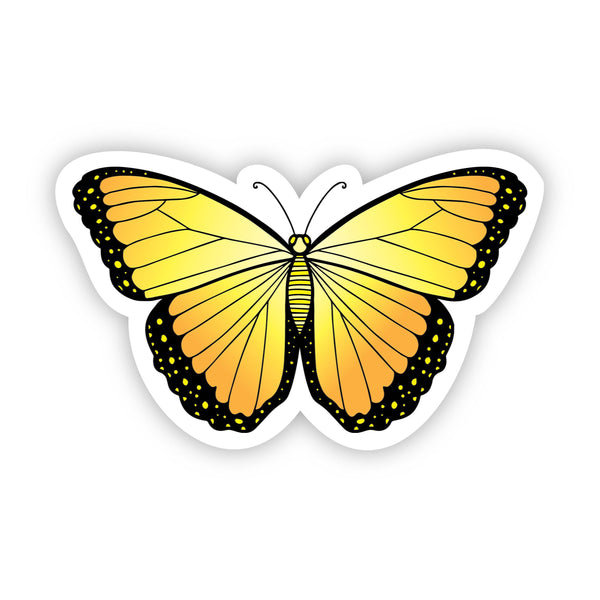 Butterfly Yellow Aesthetic Sticker