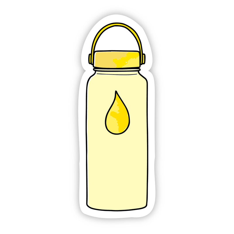 Water Bottle Yellow Aesthetic Sticker