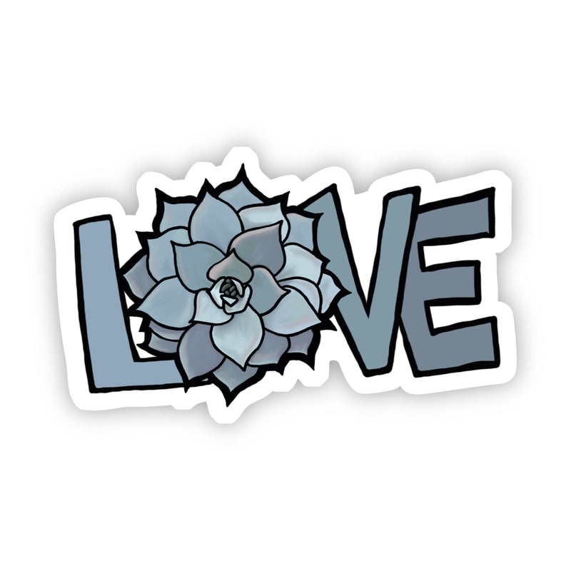 Love Gray Floral Sticker