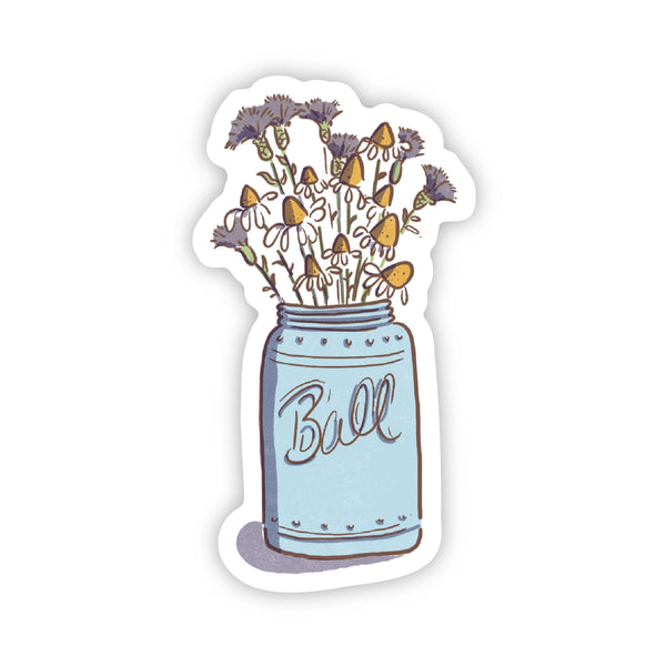 Mason Jar Flower Sticker