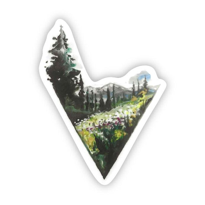 Triangle Landscape Sticker
