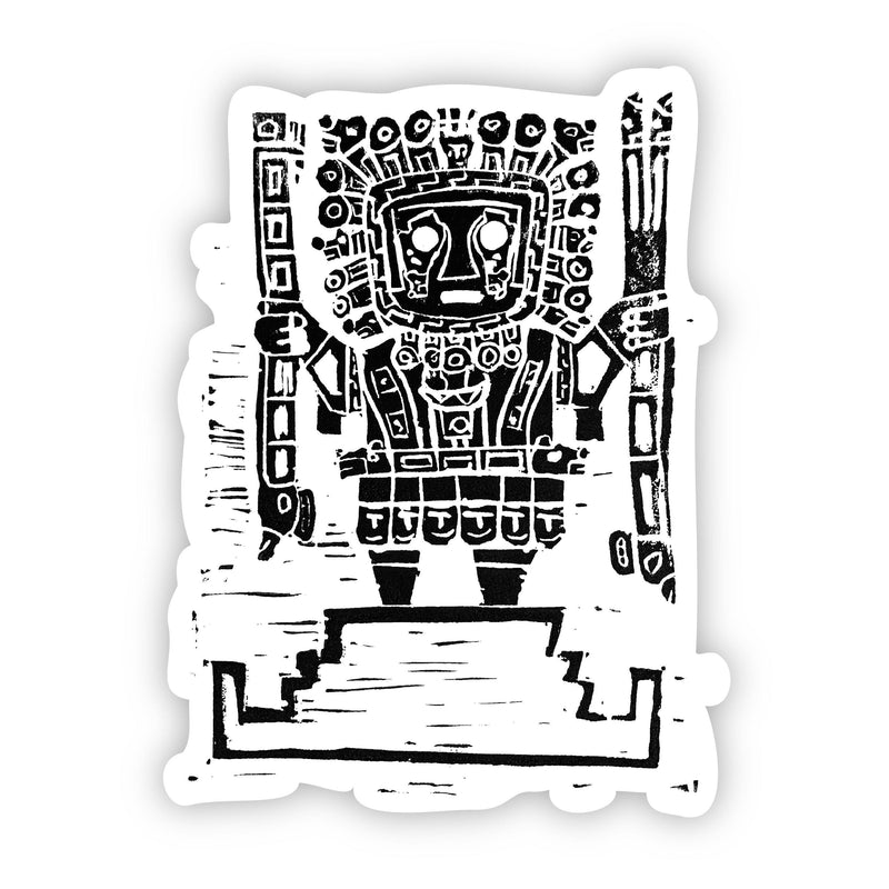 Incan Sticker (Black and White)