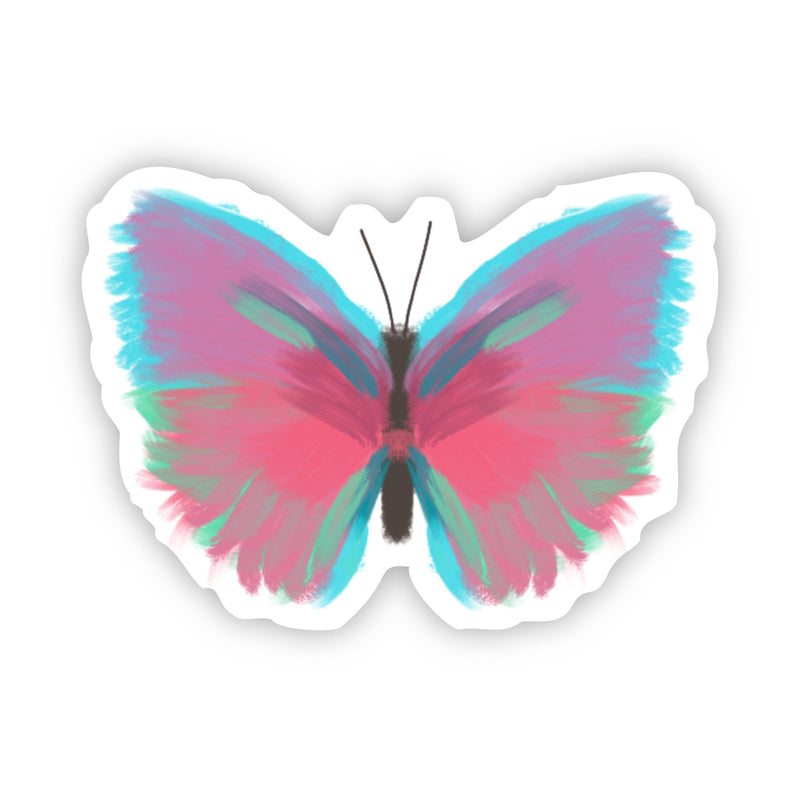 Butterfly Multicolor Painting Sticker