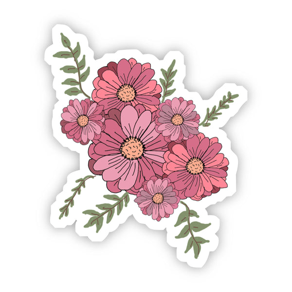 Pink Multicolor Floral Sticker