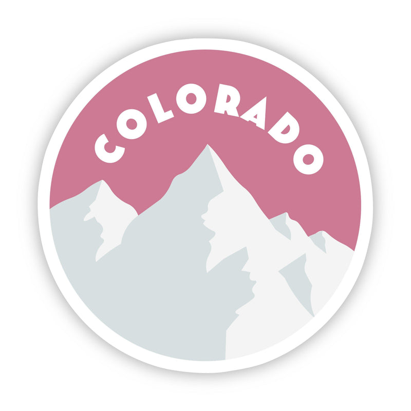 Colorado Pink Mountains Sticker