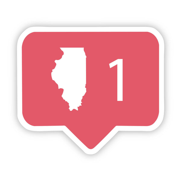 Illinois Social Media Comment Sticker