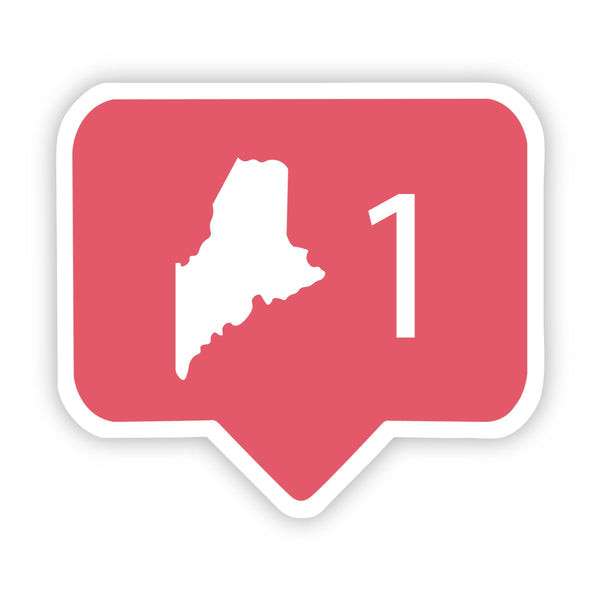 Maine Social Media Comment Sticker