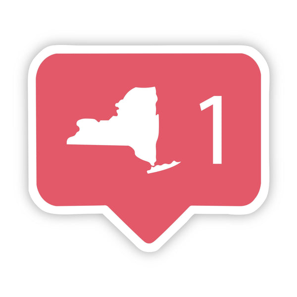 New York Social Media Comment Sticker