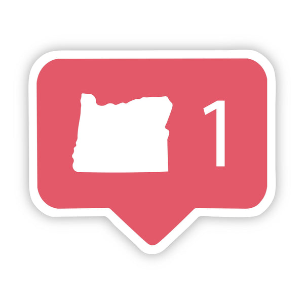 Oregon Social Media Comment Sticker